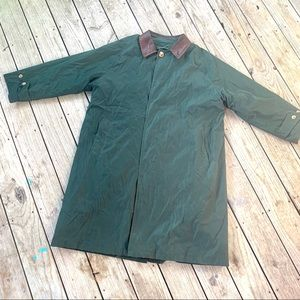 Vintage Nautica lined rain coat trench 42R